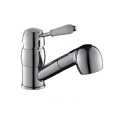 Kitchen faucet Pull-out / ­Pull-down Vessel Art Deco / Retro / Modern / Contemporary / Fashion / Brass