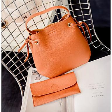 Women's Bags PU Shoulder Bag 2 Pieces Purse Set Black / Gray / Brown