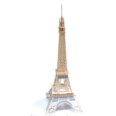 3D-puslespill Puslespill Tremodeller Modellsett Tårn Arkitektur Eiffeltårnet Other 3D GDS Tre Naturlig Tre Jern Klassisk Unisex Gave