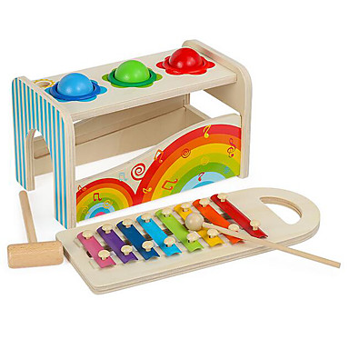 Xylophone Hammering / Pounding Toy Gopher Game Perhepeli Vauvalelu Lelut Hauska Koulutus Puinen Puu Lasten Lapset Pojat Pieces