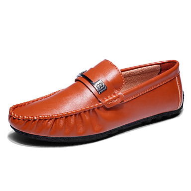 Men's Shoes PU Spring Fall Comfort Light Soles Loafers & Slip-Ons For Wedding Athletic Casual Outdoor Office & Career Party & Evening