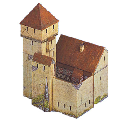 voordelige 3D-puzzels-3D-puzzels Bouwplaat Modelbouwsets Kasteel Windmolen Beroemd gebouw DHZ Hard Kaart Paper Klassiek Kinderen Unisex Speeltjes Geschenk