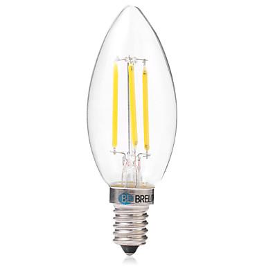 BRELONG® 1kpl 4W 350 lm E14 LED-hehkulamput C35 4 ledit COB Lämmin valkoinen Valkoinen AC 220-240V