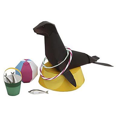 Quebra-Cabeças 3D Maquetes de Papel Brinquedos de Montar Quadrada Animais Faça Você Mesmo Cartão de Papel Duro Clássico Para Meninos