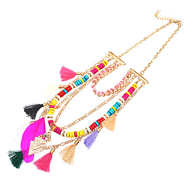 Women's Wings / Feather Unique Design Basic Pendant Necklace Layered Necklace Ferroalloy Copper Pendant Necklace Layered Necklace ,