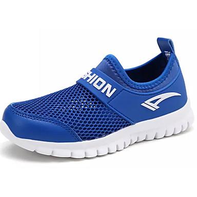 Para Meninos sapatos Couro Ecológico Primavera Outono Solados com Luzes Conforto Tênis Caminhada para Atlético Branco Azul Marinho Azul