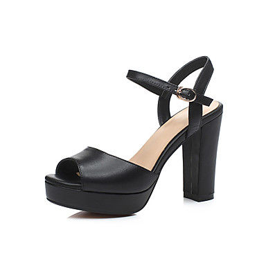 Women's Shoes PU Summer Comfort Sandals For Casual Black