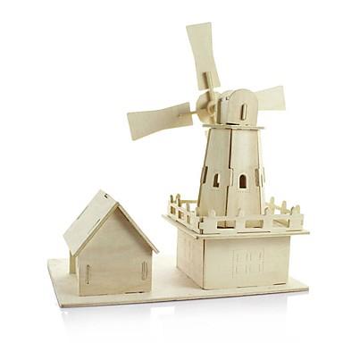 voordelige 3D-puzzels-Houten modellen Windmolen DHZ Puinen Klassiek Kinderen Speeltjes Geschenk