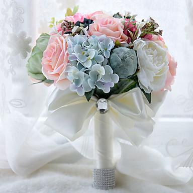 Bouquets de Noiva Buquês Casamento Miçangas Renda Seda Organza Cetim 10.24