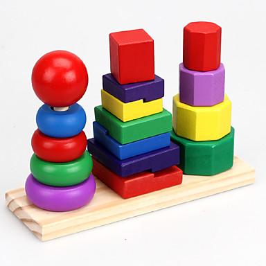Blocos de Construir Blocos Lógicos Brinquedo Educativo Torre Legal Crianças Brinquedos Dom