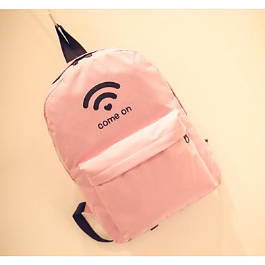 Women's Bags Canvas Backpack for Casual All Seasons Blue White Blushing Pink