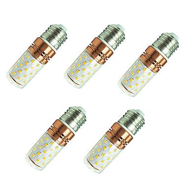 5pçs 8W 800lm E27 Lâmpadas Espiga T 60 Contas LED SMD 2835 Branco Quente / Branco 85-265V / 5 pçs