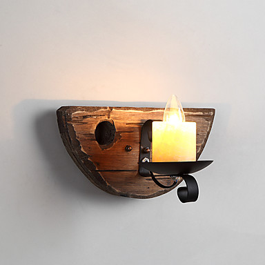 Rústico / Campestre Luminárias de parede Madeira / Bambu Luz de parede 110-120V / 220-240V 40W