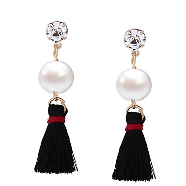 Women's Drop Earrings Jewelry Imitation Pearl Tassel Euramerican Oversized EVA Resin Alloy Geometric Jewelry For Wedding Anniversary