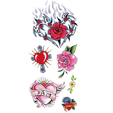 Pattern / Lower Back / Waterproof Temporary Tattoos Totem Series / Flower Series hand / arm / Wrist 1 pcs