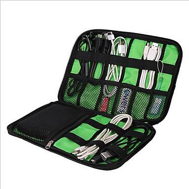 Waterproof Case / Organizador de Mala Portátil / Organizadores para Viagem / Multi funções para Roupas / Cabo USB / Celular Náilon