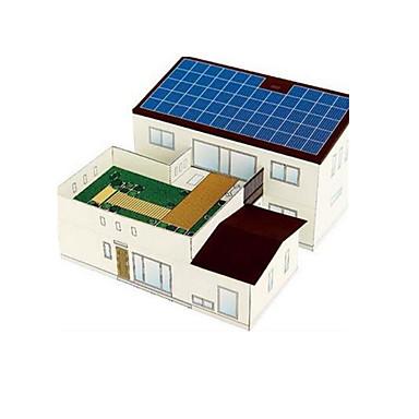 Soldrevne leker 3D-puslespill Papirmodell Modellsett Kjent bygning Hus Arkitektur Soldrevet GDS Klassisk Unisex Gave