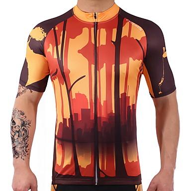 Camisa para Ciclismo Manga Curta Moto Blusas Roupa de Ciclismo Secagem Rápida Esticar Reduz a Irritação Ciclismo / Moto