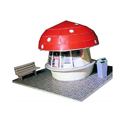 voordelige 3D-puzzels-3D-puzzels Bouwplaat Modelbouwsets Beroemd gebouw Huis Paddestoel DHZ Klassiek Unisex Speeltjes Geschenk