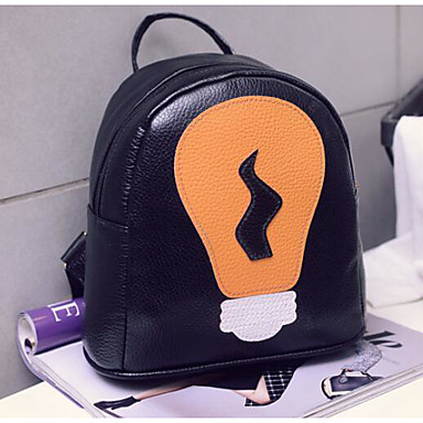 Women's Bags PU Backpack for Casual All Seasons Blushing Pink Yellow