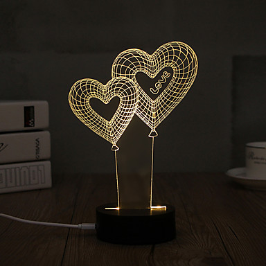 1 set 3D Nightlight USB Decorative Artistic / LED