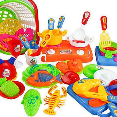 Conjuntos Toy Cozinha Brinquedos de Faz de Conta Brinquedos Faça Você Mesmo Plásticos Para Meninas Crianças Dom