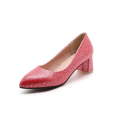 Mulheres Sapatos Couro Ecológico Sintético Verão Outono Inovador Conforto Saltos Caminhada Salto Robusto Dedo Apontado para Casamento