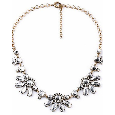 Women's Pendant Necklaces Rhinestone Flower Alloy Luxury Classic Sexy Fashion Jewelry For Wedding Party Engagement Gift Evening Party