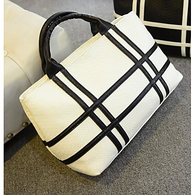 Women Bags PU Shoulder Bag for Casual Outdoor All Seasons White Black