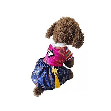 Cachorro Fantasias Roupas para Cães Fantasias Bordado Vermelho Azul Ocasiões Especiais Para animais de estimação