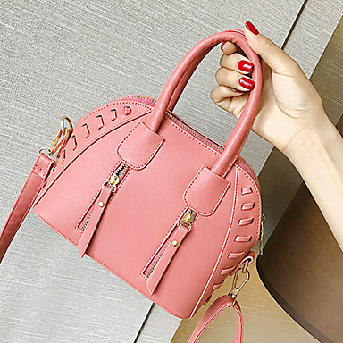 Women Bags PU Tote Zipper for Wedding Event/Party Casual Formal Office & Career All Seasons Green White Black Orange Fuchsia