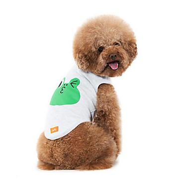 Cachorro Colete Roupas para Cães Respirável Casual Desenho Animado Branco Cinzento Ocasiões Especiais Para animais de estimação
