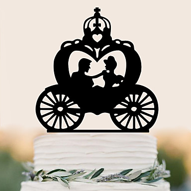 Cake Topper High Quality Plastic Wedding Birthday with 1 PVC Bag