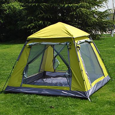 3-4 personer Telt Skjermhus Enkelt camping Tent Ett Rom Automatisk Telt Regn-sikker Støvtett til Camping & Fjellvandring 1500-2000 mm