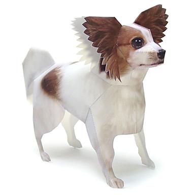 3D-puslespill Papirmodell Papirkunst Modellsett Hunder Sommerfugl Dyr GDS Hardt Kortpapir Klassisk Barne Unisex Gave