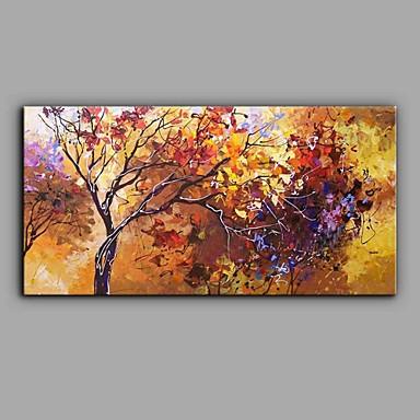 Hang-Painted öljymaalaus Maalattu - Maisema Abstrakti Kangas / Venytetty kangas