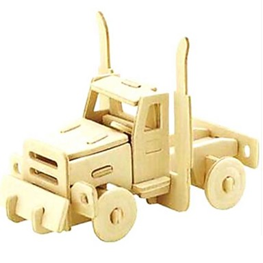 3D Puzzle / Jigsaw Puzzle / Model Building Kit Car Animals / DIY Wooden / Natural Wood Kid's Unisex Gift