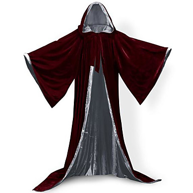 Wizard Coat Cosplay Costume Cloak Unisex Christmas Halloween Carnival Festival / Holiday Halloween Costumes Not Specified
