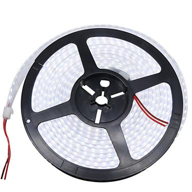 HKV 5m Joustavat LED-valonauhat 1200 LEDit 3528 SMD Lämmin valkoinen / Valkoinen Vedenkestävä 12 V / IP67