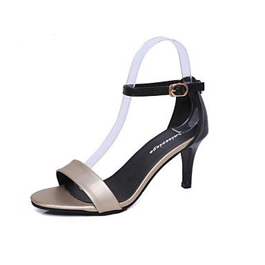 Women's Sandals Comfort Summer PU Casual Gold Silver Flat