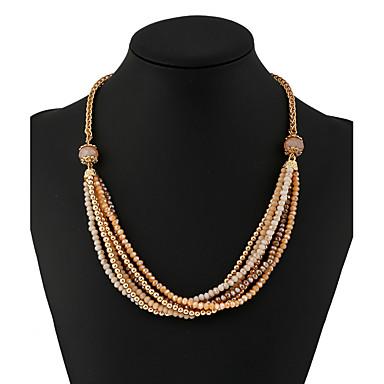 Mulheres Cristal Strass Conjunto de jóias - Pingente Borla Básico Punk Forma Geométrica Café Escuro Colar / Brincos Para Housewarming