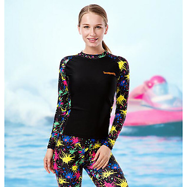 Women's Ultraviolet Resistant Stretchy Training Diving Suit Long Sleeve Rash guard-Swimming Beach Surfing Sailing Watersports All Seasons