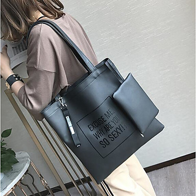 Women's Bags PU Tote for Casual Outdoor All Seasons Green Black Gray
