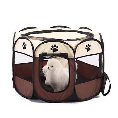 Kutya Ágyak Házi kedvencek Kosrak Egyszínű Lábnyom / Paw Meleg Összecsukható Kávé Piros Háziállatok számára