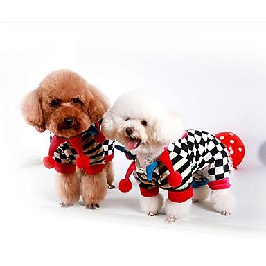 Dog Jumpsuit Dog Clothes Stripe Black Cotton Costume For Pets Men's / Women's Casual / Daily