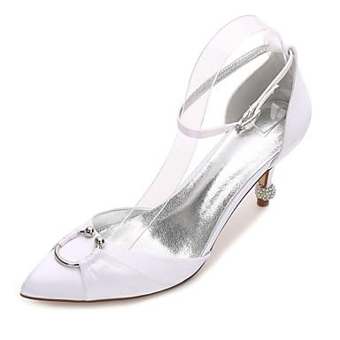 f128ce11c562 Dámské Satén Jaro   Léto Pohodlné   D´Orsay   Lodičky Svatební obuv Kónický
