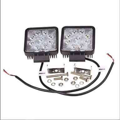 2pcs Autó Izzók 27W Magas teljesítményű LED 1800lm LED Munkafény
