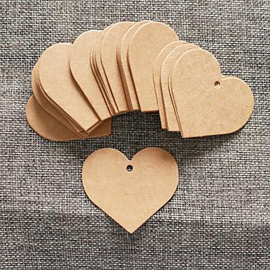 50 db barna kraftpapír címke 5.5 * 5cm / db diy esküvői ajándék beter gifts® praktikus diy köszönöm tag