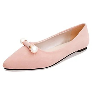 Women's Shoes PU(Polyurethane) Spring Light Soles Flats Flat Heel Pointed Toe Gray / Blue / Pink