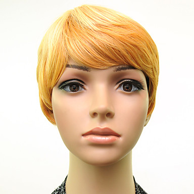 Synthetic Wig Straight Blonde Synthetic Hair Blonde Wig Short Capless Blonde